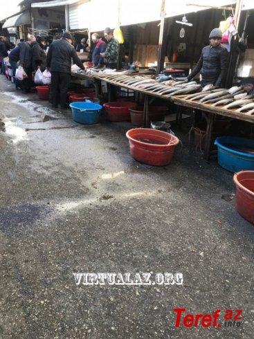 8 km bazarı: AQTA-nın buralardan xəbəri var? - Heç buralarında AQTA-dan xəbəri yoxdur...FOTO