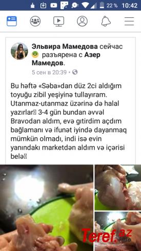"""SOS: """"Səba"""" toyuğu aldı və evi üfunət bürüdü – Foto"""