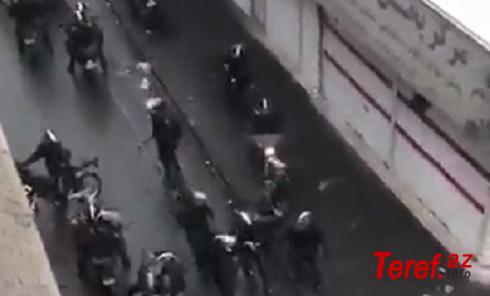 Tehran alov içində: Polis odlu silaha əl atdı