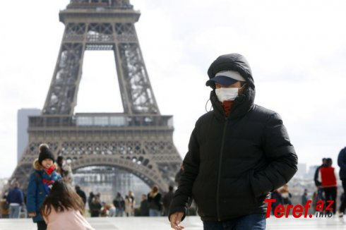 Fransada koronavirusa sutkalıq yoluxmaların sayı azalmağa davam edir