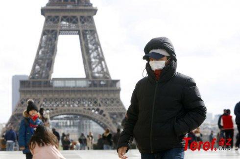 Fransada koronavirusdan ölənlərin sayı 70 min nəfərə çatır