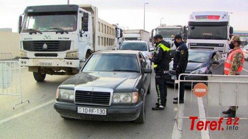 """Dövlət Yol Polisi:""""Müvafiq icazəsi olmayan şəxslər keçid postlarından buraxılmayacaqlar"""""""