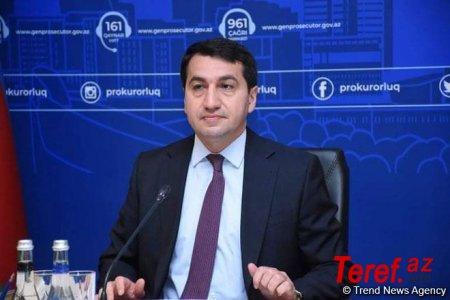 """""""Bütün şəhidlərimizin ruhu şaddır"""" - Hikmət Hacıyev"""
