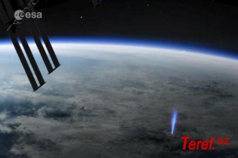 """Beynəlxalq Kosmik Stansiya """"elf""""lərin Yer atmosferindən çıxmasını çəkib - VİDEO"""
