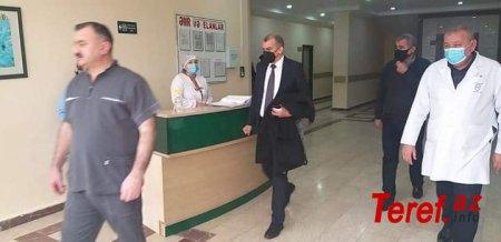 Şirvan Diaqnostika Mərkəzinin baş həkimi deputatın görüşünə tibbi maskasız gəldi - FOTO