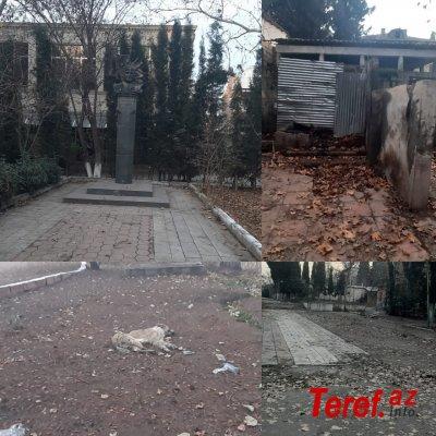 Gəncədə xaraba günə qalan Rəsulzadə parkı... - FOTO