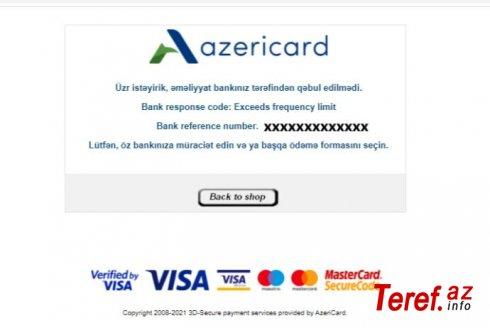 Mərkəzi Bank və Vergi Xidməti VÖEN kartına -