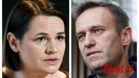Navalnı və Tixanovskayanın adları Nobel mükafatına təqdim olunub -