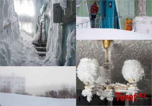 """""""Buz krallığı""""na çevrilmiş kabus şəhər – FOTO/VİDEO"""