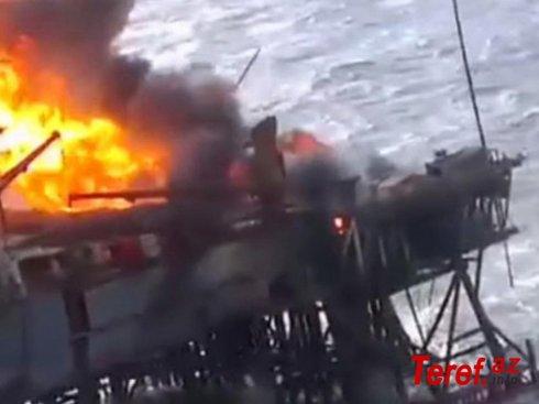 Göyərtəsində 30 rusiyalı heyət üzvi olan gəmi Yaponiya dənizində alovlara bürünüb