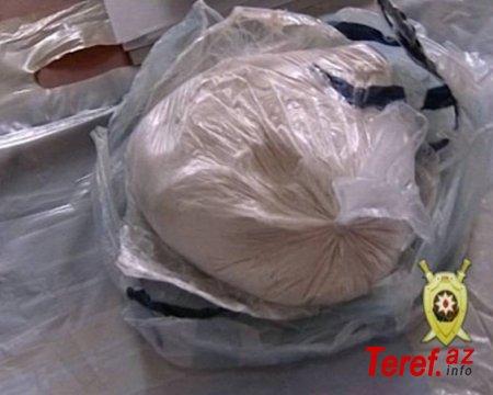 Biləsuvarda avtomobildən külli miqdarda heroin aşkarlandı
