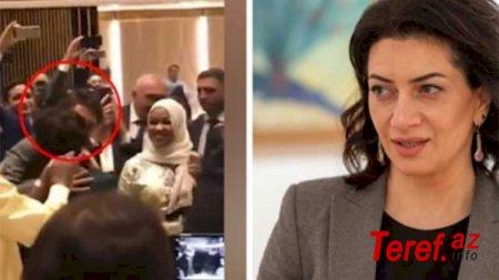 Məşhur siyasətçi Anna Akopyanı öpdü, qalmaqal yarandı - VİDEO