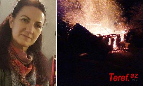 Atasını yanan evdə sandı, ürəyi partladı - FOTO