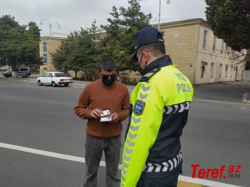 Qaxda yol polisi reyd keçirib