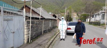 Oğuzda COVİD-19 xəstəsi ictimai yerdə saxlanılıb