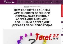 Moldova KİV-də 62 erməni diversantı ilə bağlı məqalə dərc olunub.