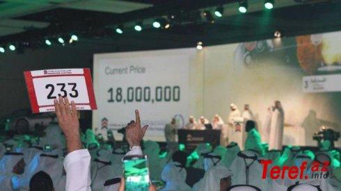 Dubayda hərracda satılan avtomobil nömrəsinin qiyməti dünya rekordunu qırıb