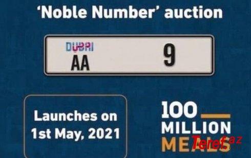 Dubayda avtomobil nömrəsi 10 milyon dollara satılıb – VİDEO