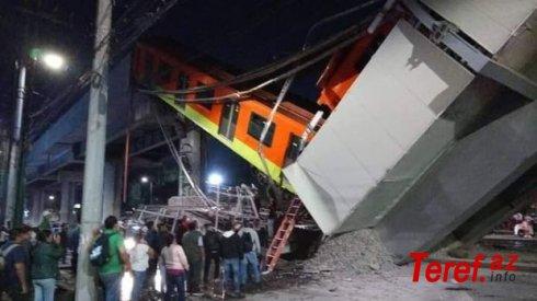 Metro körpüsü qatarla birgə çökdü: Çox sayda ölən və xəsarət alanlar var