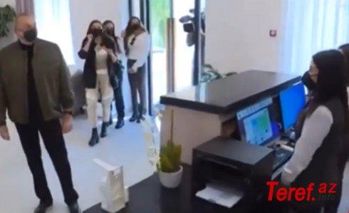 Prezidentlə oteldə çalışan qız arasında maraqlı dialoq - VİDEO