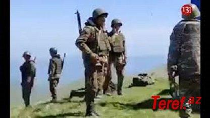 Ordumuzun tutduğu yeni mövqelərin görüntüsü yayıldı - Ermənilər topçu bölmələrini İRƏLİ ÇƏKİR