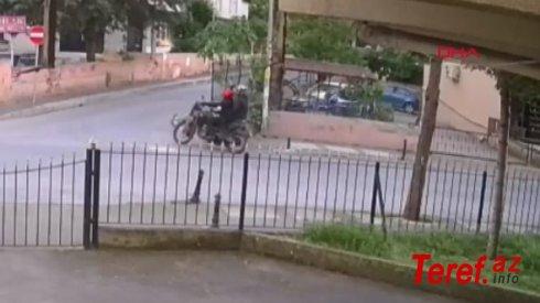 100 minlik motosiklet 30 saniyədə oğurlandı