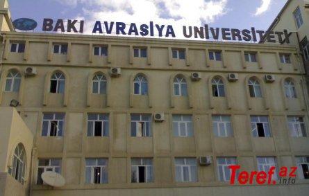 """Avrasiya Universitetində """"ailə klanı"""" - İTTİHAM"""