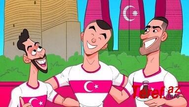 Türkiyənin Bakıdakı oyunu ilə bağlı karikatura - Foto
