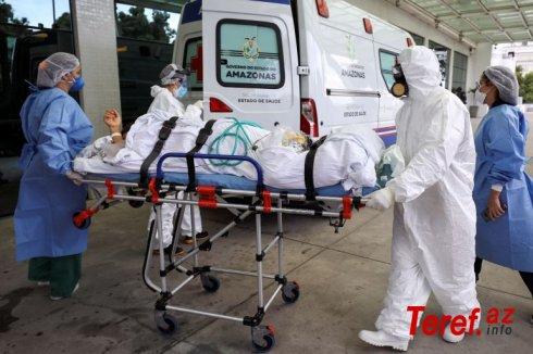 Braziliyada koronavirusdan daha 2 378 nəfər həlak olub