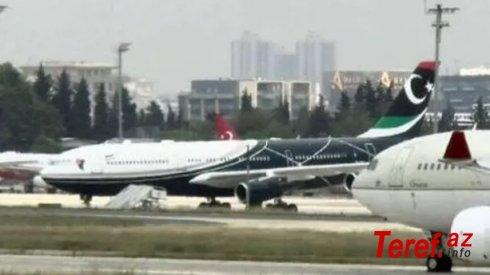 Qəddafinin təyyarəsi İstanbuldan havaya qalxdı