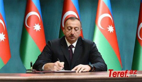 Prezident 1 sərəncam, 2 fərman imzaladı