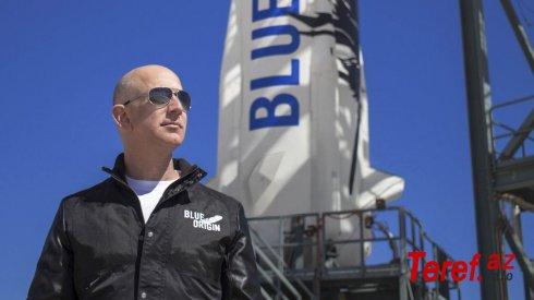 Bezos, 2021-ci ildə sərnişinlərlə iki kosmik gəmi uçuşu planlaşdırır