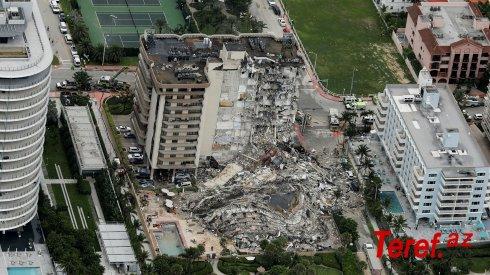 Floridada binanın çökməsi nəticəsində zərərçəkənlər və ölənlərin yaxınlarına 150 milyon dollar veriləcək