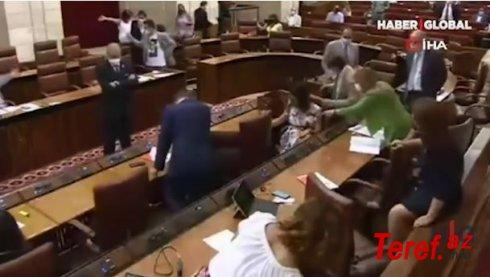 İspaniyada parlamentə girən sıçan aranı qarışdırdı – VİDEO
