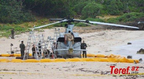 ABŞ hərbi-hava qüvvələrinə məxsus helikopter Yaponiyada qəza enişi etdi