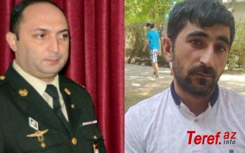 Ağsu rayon hərbi komissarı könüllü Qarabağ döyüşçüsünü döydü - VİDEO