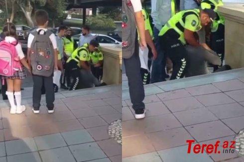 Bakıda şagirdlərin önündə baş verən polis-vətəndaş insidentinin TƏFƏRRÜATI - YENİLƏNİB + VİDEO