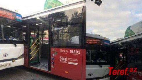 Bakıda iki sərnişin avtobusu toqquşdu - FOTOLAR